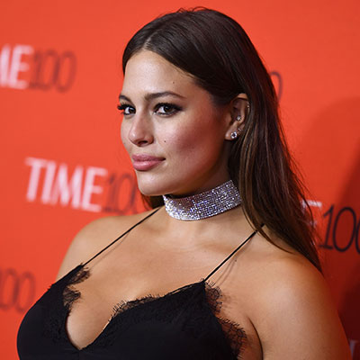 Ashley Graham stuns in black lace-trimmed dress at Time 100 Gala