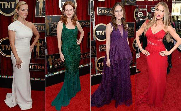 Leading ladies light up SAG Awards in colourful gowns