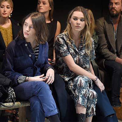 Celebrities at London Fashion Week AW17