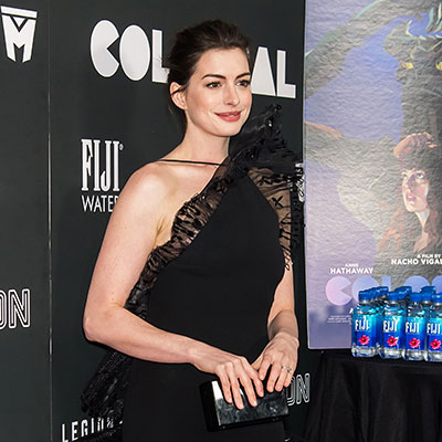 Anne Hathaway pledges to wear only eco-friendly outfits for the Colossal press tour