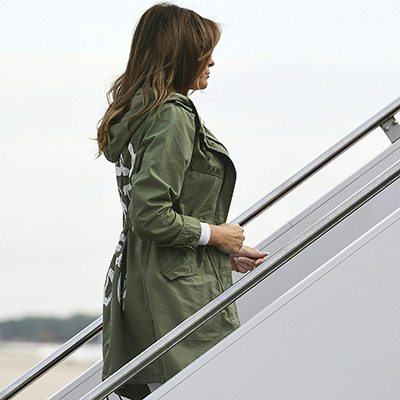 Melania Trump's controversial jacket goes viral – and these celebrities have something to say about it